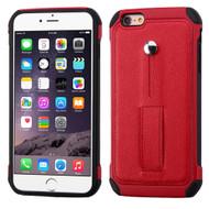 Multi-Function Tough Anti-Shock Hybrid Case for iPhone 6 Plus / 6S Plus - Red