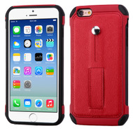 Multi-Function Tough Anti-Shock Hybrid Case for iPhone 6 / 6S - Red