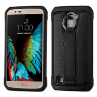 Multi-Function Tough Anti-Shock Hybrid Case for LG K10 / Premier LTE - Black