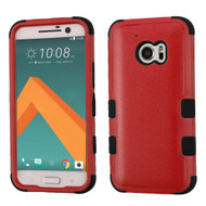 Military Grade TUFF Hybrid Armor Case for HTC 10 - Red