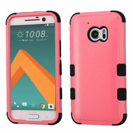Military Grade Certified TUFF Hybrid Armor Case for HTC 10 - Pink