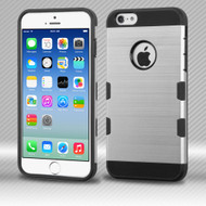 Military Grade Certified TUFF Trooper Dual Layer Hybrid Case for iPhone 6 / 6S - Brushed Silver