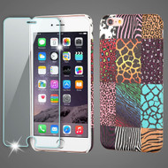 *SALE* Mod Leather Graphic Case and Tempered Glass Screen Protector for iPhone 6 Plus / 6S Plus - Safari