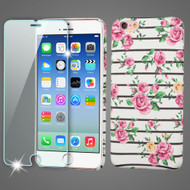 Mod Leather Graphic Case and Tempered Glass Screen Protector for iPhone 6 / 6S - Fresh Roses