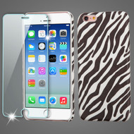 Mod Leather Graphic Case and Tempered Glass Screen Protector for iPhone 6 / 6S - Zebra