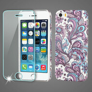 Mod Leather Graphic Case and Tempered Glass Screen Protector for iPhone SE / 5S / 5 - Persian Paisley