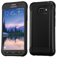 Brushed Hybrid Armor Case for Samsung Galaxy S7 Active - Black