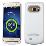 Quantum Energy Power Bank Battery Charger Kickstand Case 4200mAh for Samsung Galaxy S7 - White