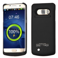 Quantum Energy Power Bank Battery Charger Kickstand Case 5200mAh for Samsung Galaxy S7 Edge - Black