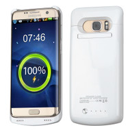 Quantum Energy Power Bank Battery Charger Kickstand Case 5200mAh for Samsung Galaxy S7 Edge - White