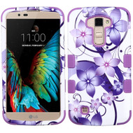 *SALE* Military Grade TUFF Image Hybrid Armor Case for LG K10 / Premier LTE - Purple Hibiscus Flower Romance