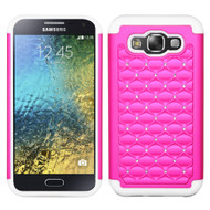 *Sale* TotalDefense Diamond Hybrid Case for Samsung Galaxy E5 - Hot Pink White