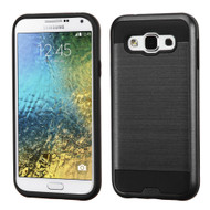 *Sale* Brushed Hybrid Armor Case for Samsung Galaxy E5 - Black