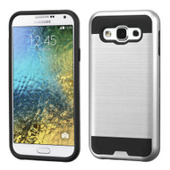 *Sale* Brushed Hybrid Armor Case for Samsung Galaxy E5 - Silver
