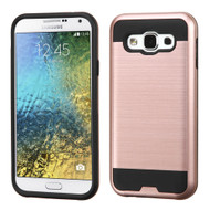 *Sale* Brushed Hybrid Armor Case for Samsung Galaxy E5 - Rose Gold