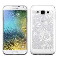 *Sale* Floral Rubberized Crystal Case for Samsung Galaxy E5 - White