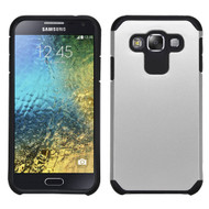 *Sale* Hybrid Multi-Layer Armor Case for Samsung Galaxy E5 - Silver