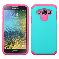 *Sale* Hybrid Multi-Layer Armor Case for Samsung Galaxy E5 - Teal Hot Pink