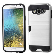 Card To Go Hybrid Case for Samsung Galaxy E5 - Silver