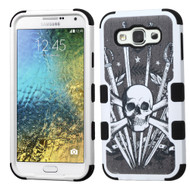 *Sale* Military Grade TUFF Image Hybrid Armor Case for Samsung Galaxy E5 - Sword and Skull