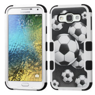 *Sale* Military Grade TUFF Image Hybrid Armor Case for Samsung Galaxy E5 - Soccer Ball