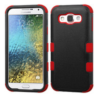 *Sale* Military Grade TUFF Hybrid Armor Case for Samsung Galaxy E5 - Black Red