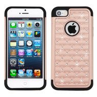 *SALE* TotalDefense Diamond Hybrid Case for iPhone SE / 5S / 5 - Rose Gold
