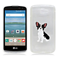 *Sale* Graphic Rubberized Protective Gel Case for LG K4 / Optimus Zone 3 / Spree - French Bulldog