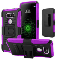 *SALE* Advanced Armor Hybrid Kickstand Case with Holster for LG G5 - Purple