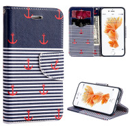 Executive Graphic Leather Wallet Case for iPhone 6 / 6S - Nautical