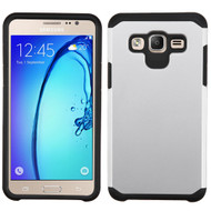 Hybrid Multi-Layer Armor Case for Samsung Galaxy On5 - Silver
