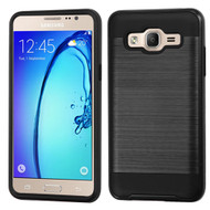Brushed Hybrid Armor Case for Samsung Galaxy On5 - Black