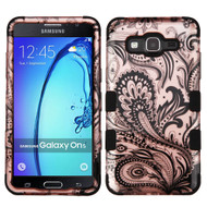 Military Grade Certified TUFF Image Hybrid Armor Case for Samsung Galaxy On5 - Phoenix Flower Rose Gold