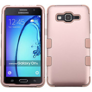 Military Grade Certified TUFF Hybrid Armor Case for Samsung Galaxy On5 - Rose Gold 086