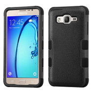 Military Grade Certified TUFF Hybrid Armor Case for Samsung Galaxy On5 - Black