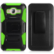 *SALE* Advanced Armor Hybrid Kickstand Case with Holster for Samsung Galaxy On5 - Black Green
