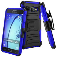 *SALE* Advanced Armor Hybrid Kickstand Case with Holster for Samsung Galaxy On5 - Black Blue
