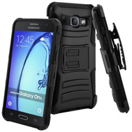 Advanced Armor Hybrid Kickstand Case with Holster for Samsung Galaxy On5 - Black