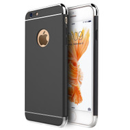 GripTech 3-Piece Chrome Frame Case for iPhone 6 Plus / 6S Plus - Black