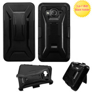 Tough Armor Hybrid Kickstand Case with Holster for Samsung Galaxy On5 - Black