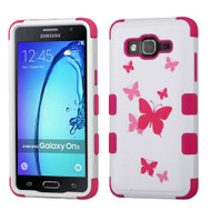 Military Grade Certified TUFF Image Hybrid Armor Case for Samsung Galaxy On5 - Butterfly Dancing