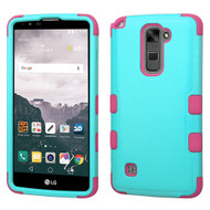 *Sale* Military Grade TUFF Hybrid Armor Case for LG Stylo 2 Plus - Teal Hot Pink