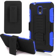 *SALE* Robust Armor Stand Protector Cover with Holster for Kyocera Hydro Reach / Hydro Shore / Hydro View - Black Blue