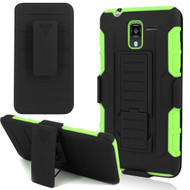 *SALE* Robust Armor Stand Protector Cover with Holster for Kyocera Hydro Reach / Hydro Shore / Hydro View - Black Green