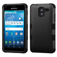 Military Grade TUFF Hybrid Armor Case for Kyocera Hydro Reach / Hydro Shore / Hydro View - Black