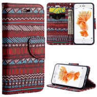 Executive Graphic Leather Wallet Case for iPhone 6 / 6S - Boho Chic