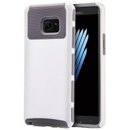Glossimer UV Coating Dual-Layer Hybrid Armor Case for Samsung Galaxy Note 7 - White Grey