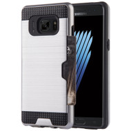 Card To Go Hybrid Case for Samsung Galaxy Note 7 - Silver