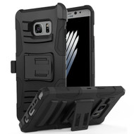 Advanced Armor Hybrid Kickstand Case with Holster for Samsung Galaxy Note 7 - Black