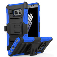 Advanced Armor Hybrid Kickstand Case with Holster for Samsung Galaxy Note 7 - Black Blue